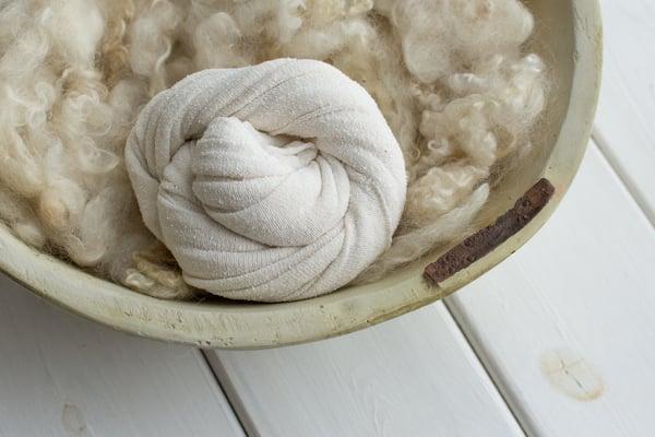 Image of Textured cream stretch wrap