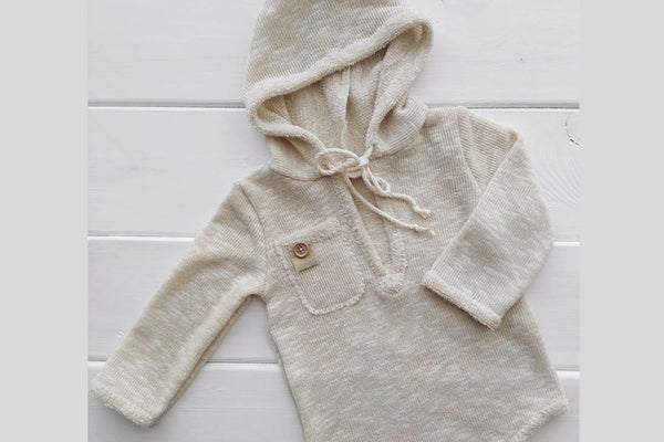 Image of Noah hooded romper / three sizes