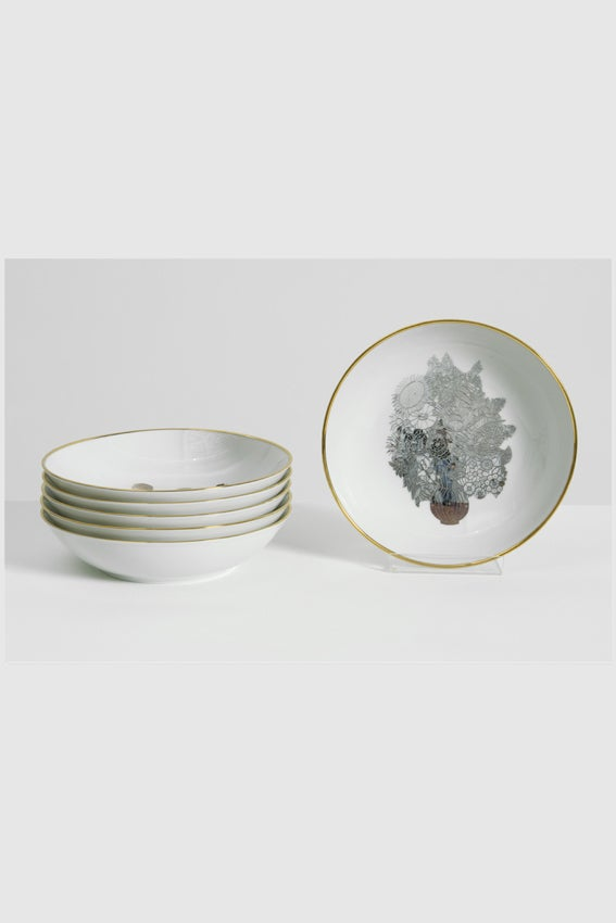 Image of Jeff Koons - Banality Series (Set of 6 coupe soup plates 19 cm)