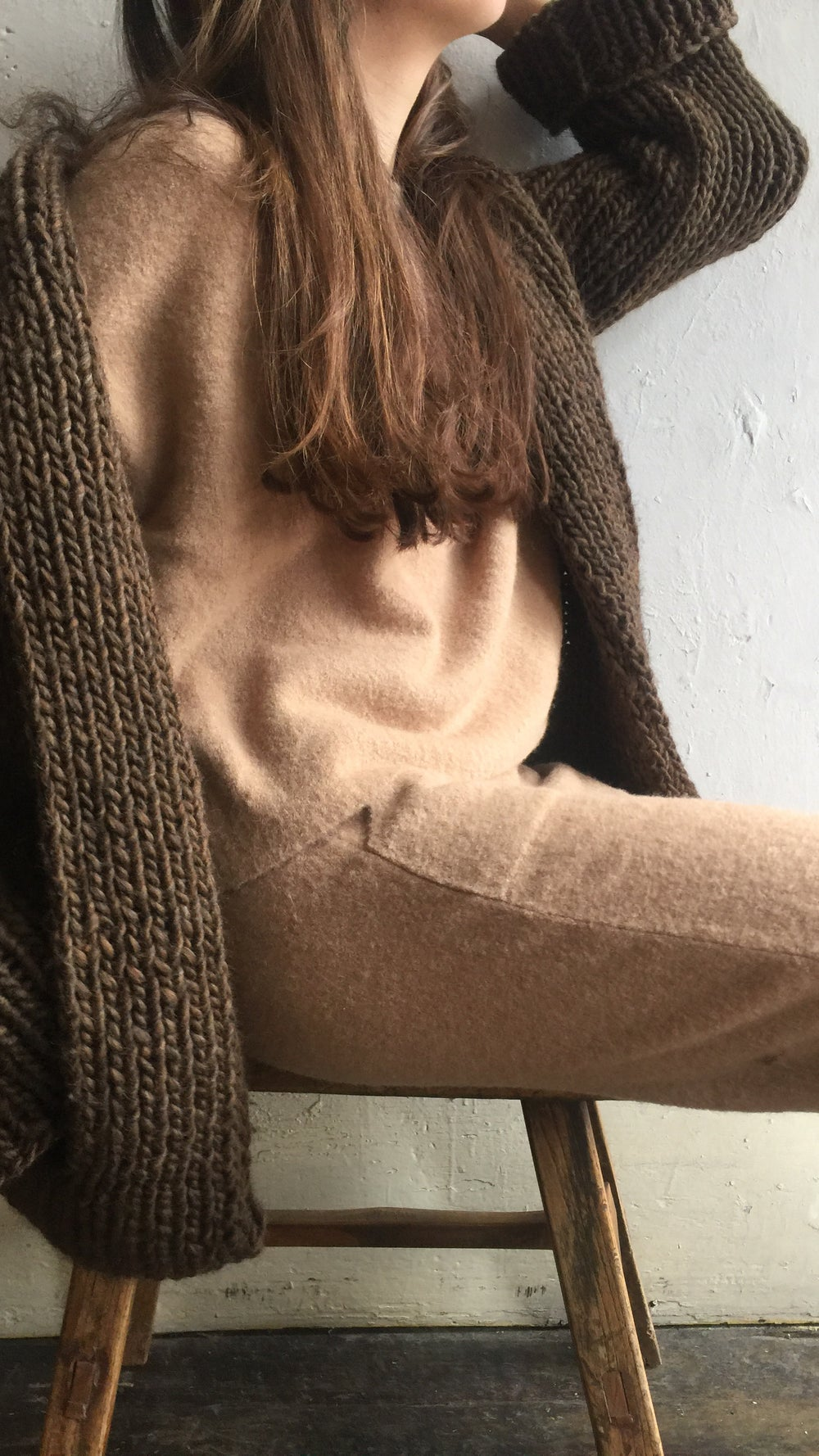 Image of Atelier Delphine Dropped shoulder pullover.