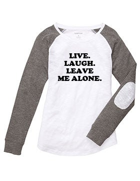 Image of Live. Laugh. Leave Me Alone patch tee