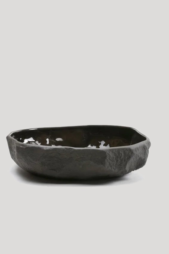 Image of Max Lamb - Crockery large flat bowl, Black
