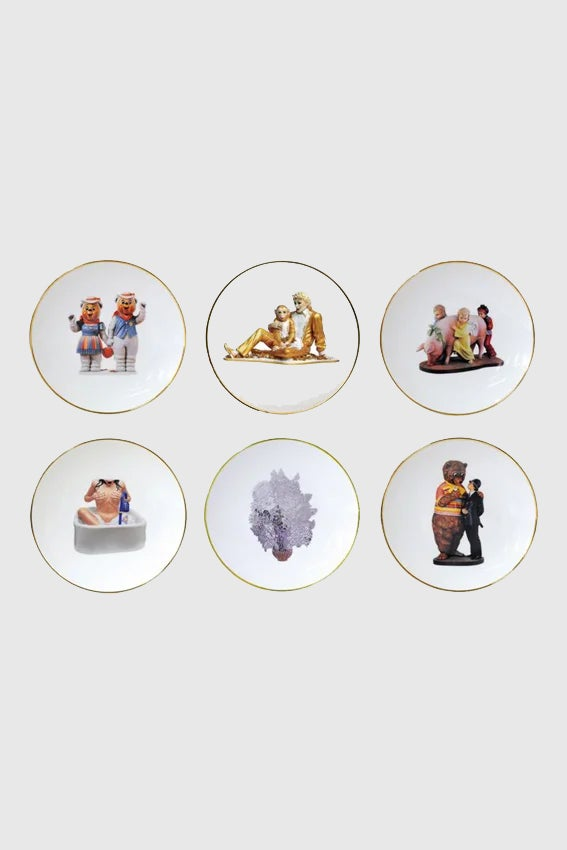 Image of Jeff KOONS - Banality Series (Set of 6 bread & butter plates)
