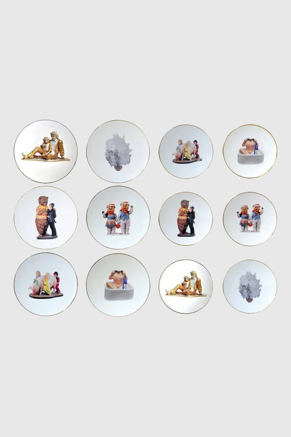 Image of Jeff Koons - Banality series (Set of 6 dinner and 6 salad plates)
