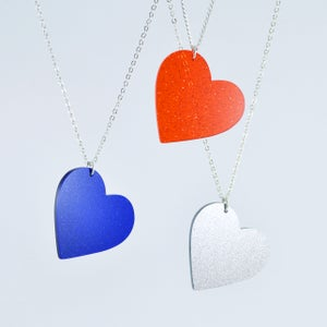 Image of Sparkly Heart Necklace