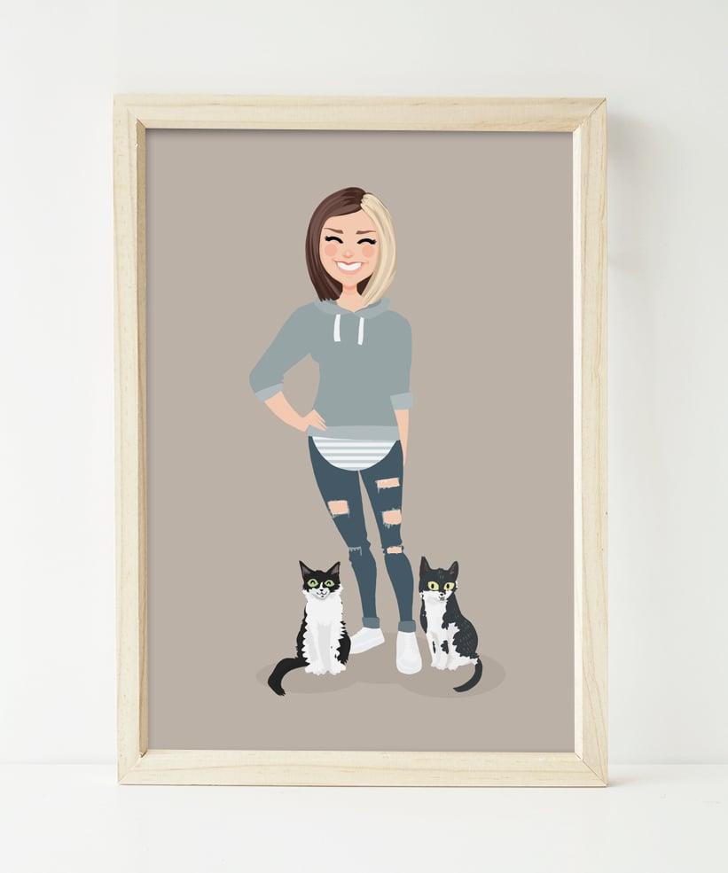 Image of 1 people custom portrait