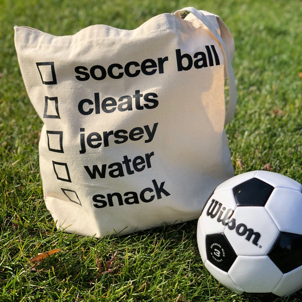 Image of Soccer Checklist Tote Bag