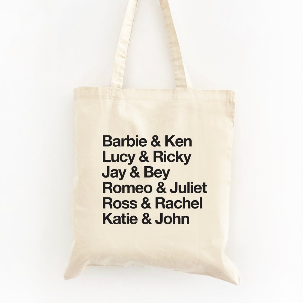 Image of Customizable Famous Couples Tote