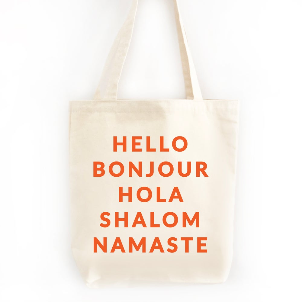 Image of Hello Tote Bag