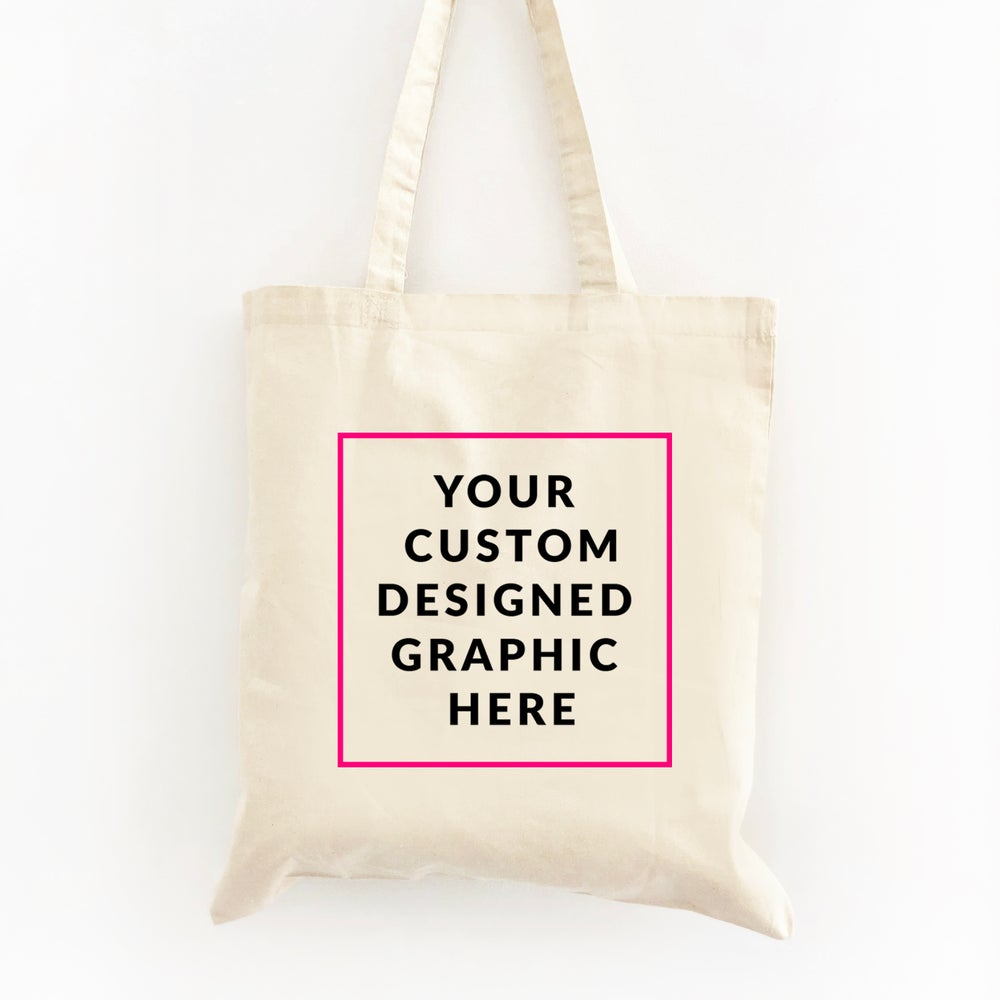 Image of Create Your Own Custom Graphic Wedding Welcome Tote Bag