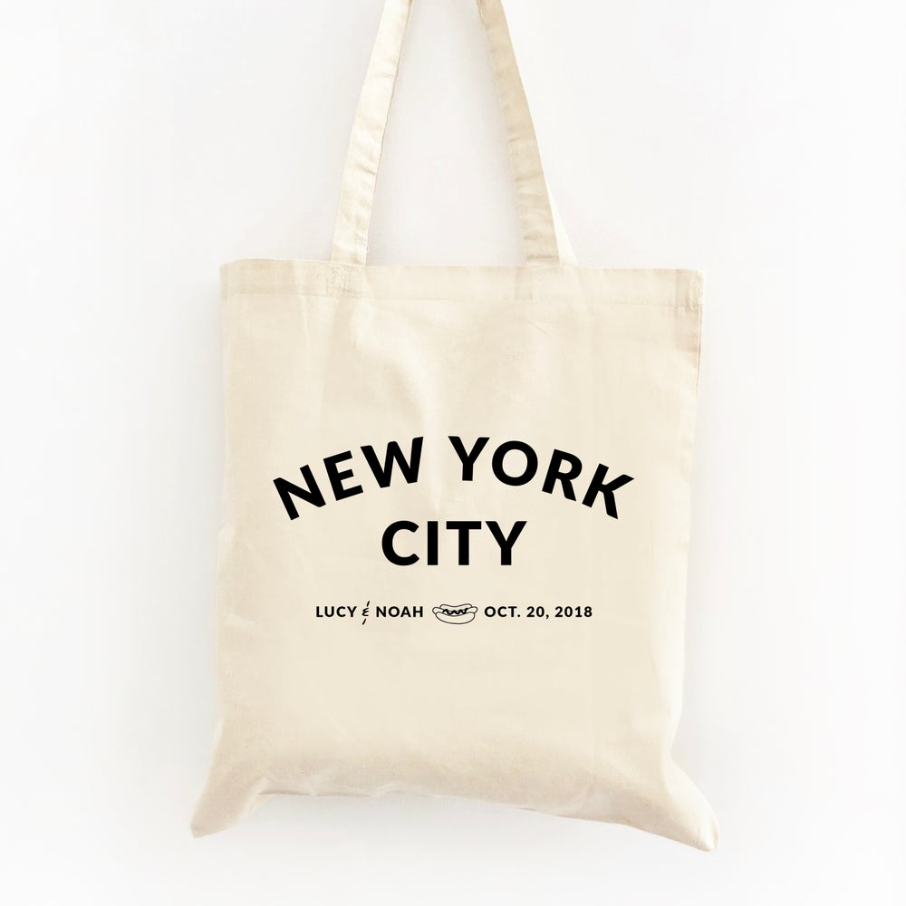 Image of Customizable City Wedding Welcome Tote Bag
