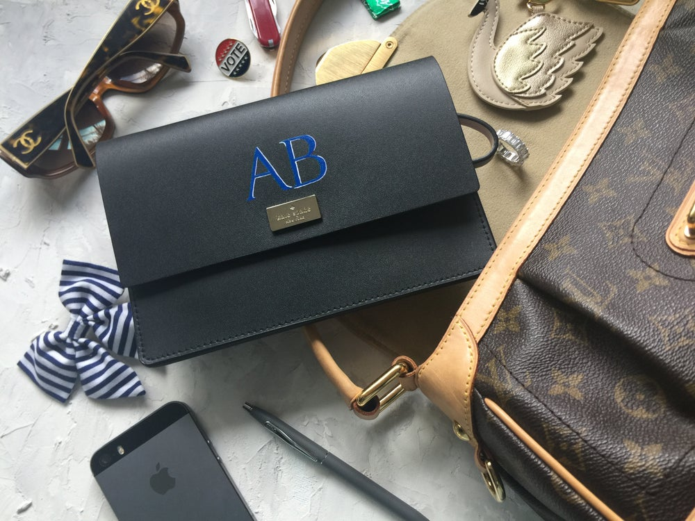 Image of Monogram Painted on Leather