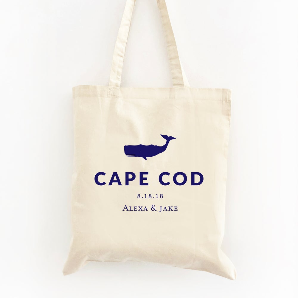 Image of Customizable Nautical Whale Tote