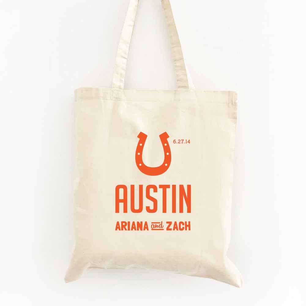 Image of Customizable Horseshoe Tote