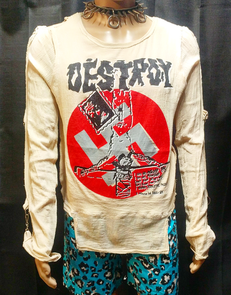 Image of Classic destroy crucified jesus swastika bondage shirt