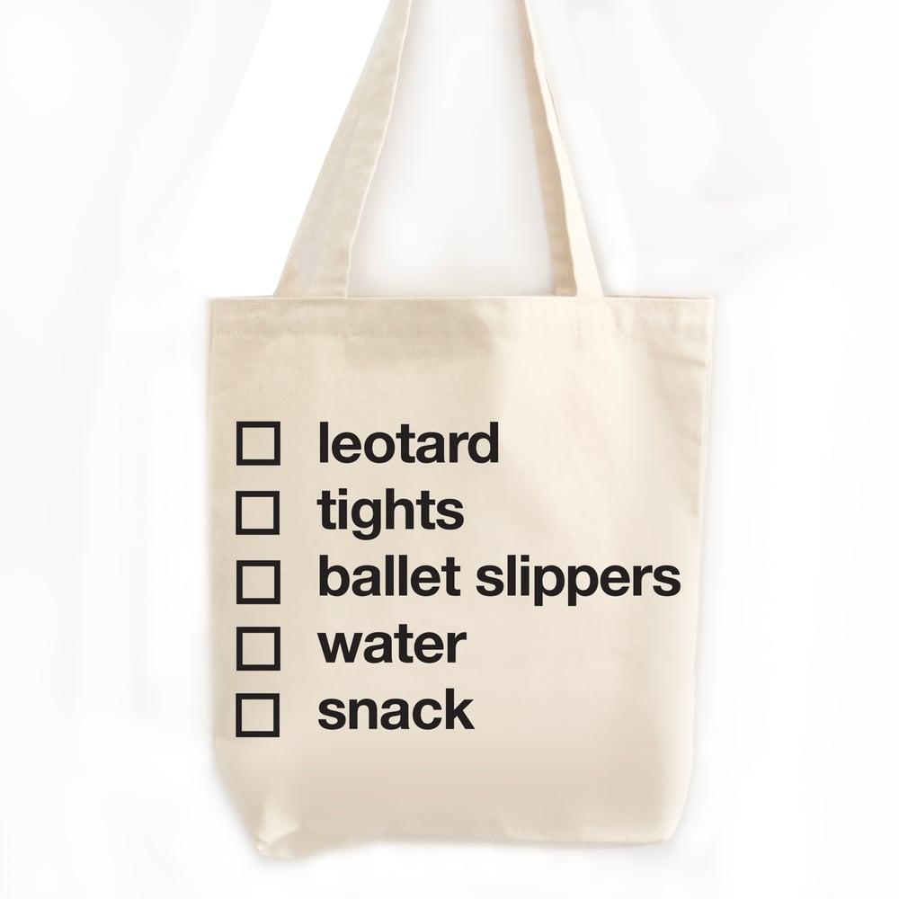 Image of Dance Checklist Tote Bag