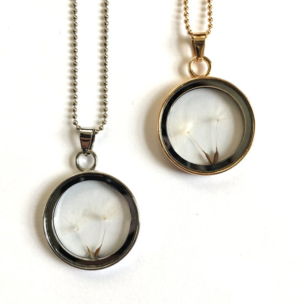 Image of Dandelion Wishes Glass Locket