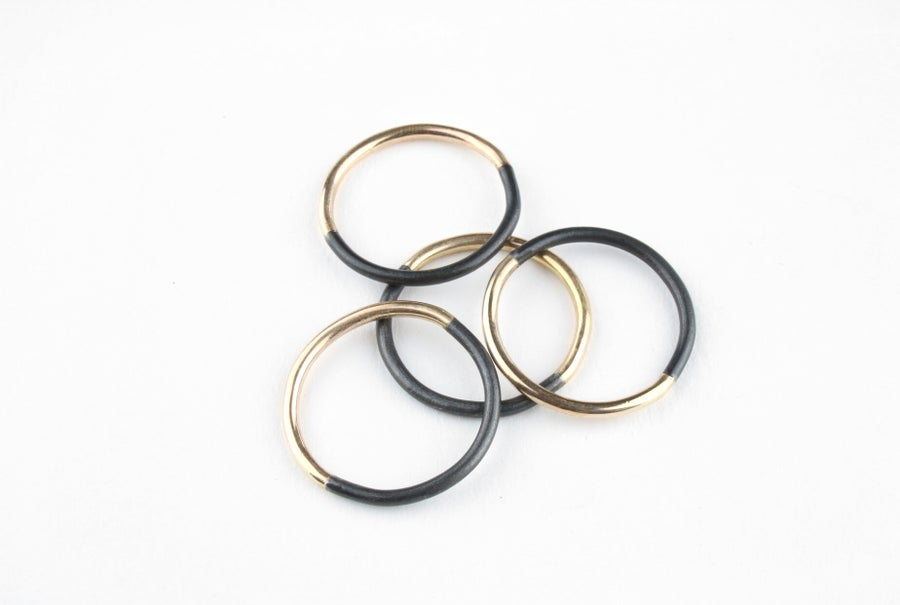 Image of Gold and Steel 50/50 Ring