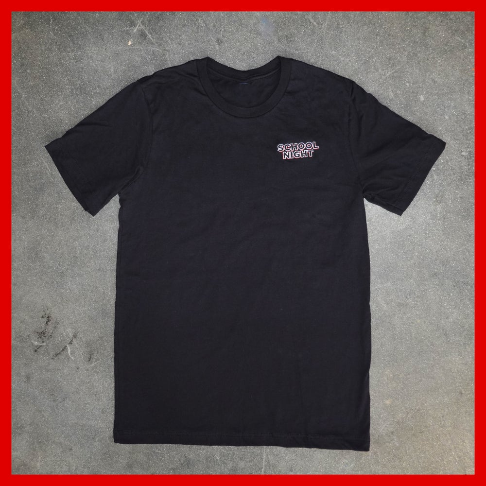 Image of School Night Embroidered T-Shirt