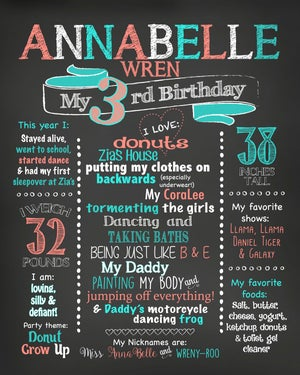 Image of Sprinkled With Love Shower Invitation & Birthday Chalkboard