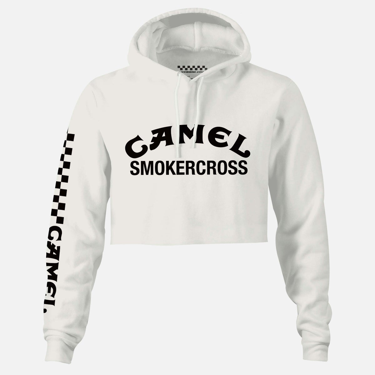Image of WOMENS CAMEL SMOKERCROSS CROP HOODIE