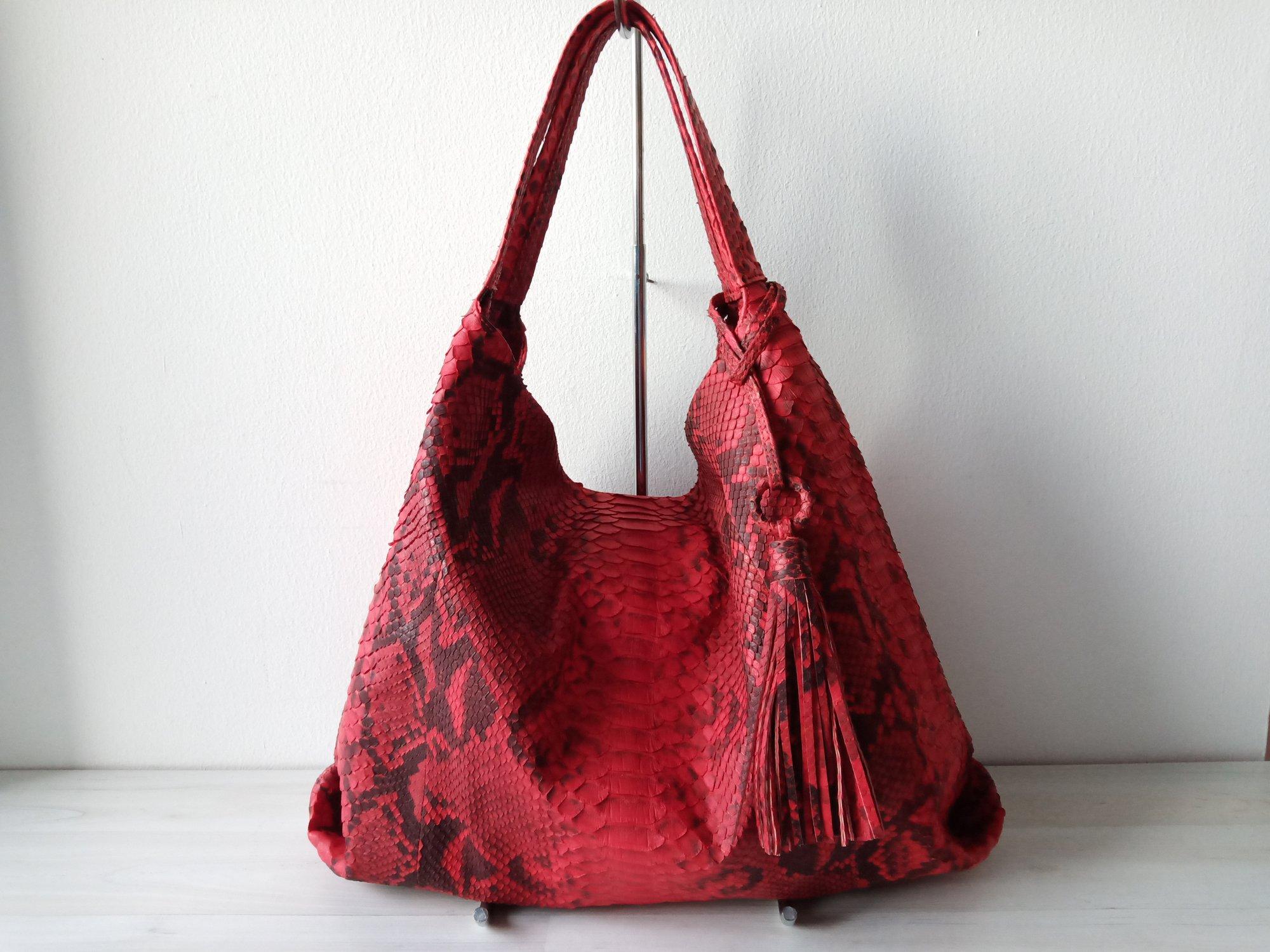 da01d589d83e ... Bag  Image of BURLA Python Leather Women s Shoulder Hobo ...