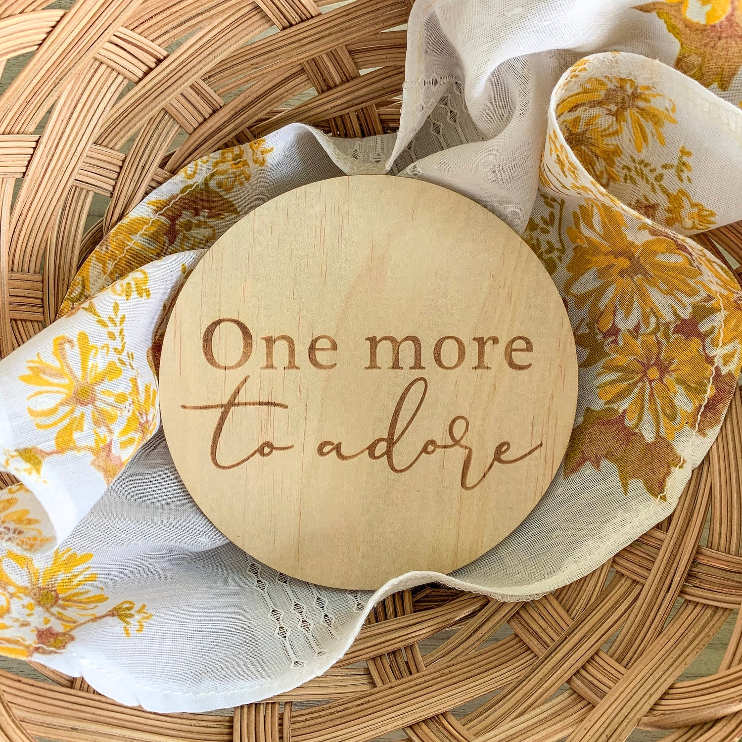 Image of More to adore | Announcement plaque