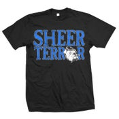 "Image of SHEER TERROR ""Logo with Dog in Letters"" T-Shirt"