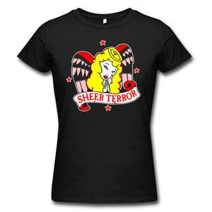 """Image of SHEER TERROR """"Angel"""" Girlie Shirt from European Tour"""