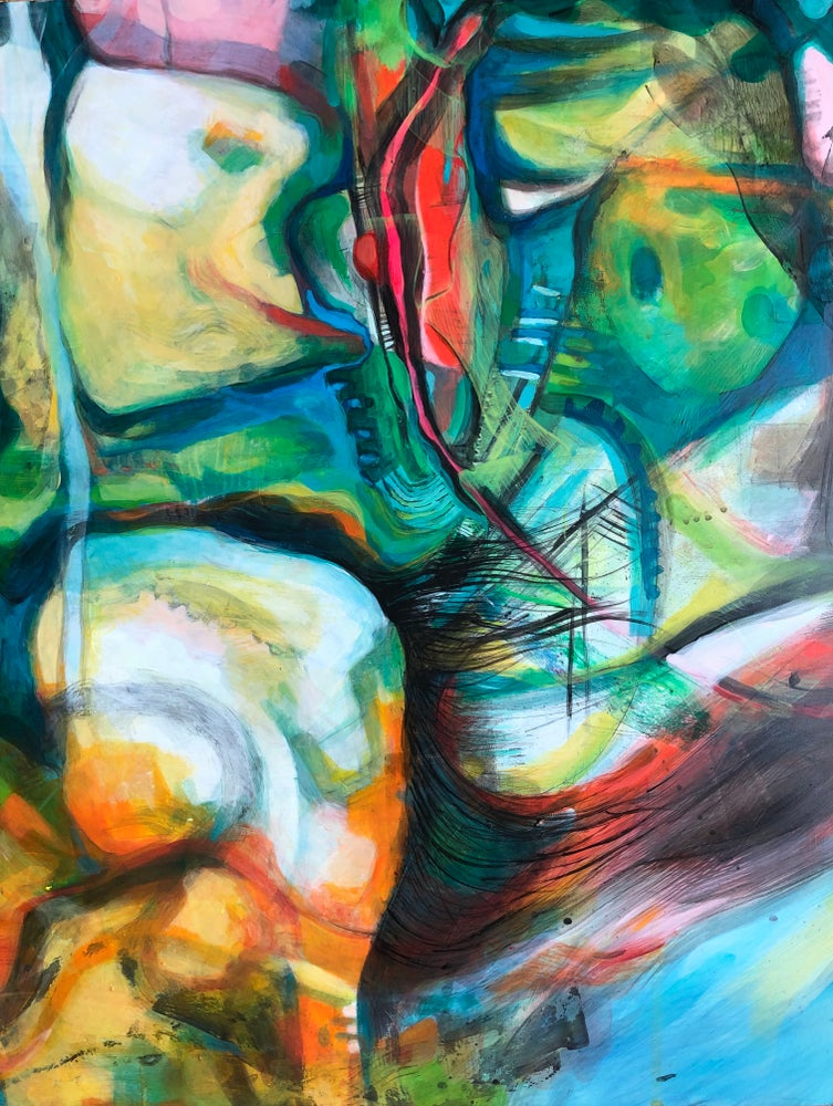 Image of It Still Feels Like Me- original abstract painting on board