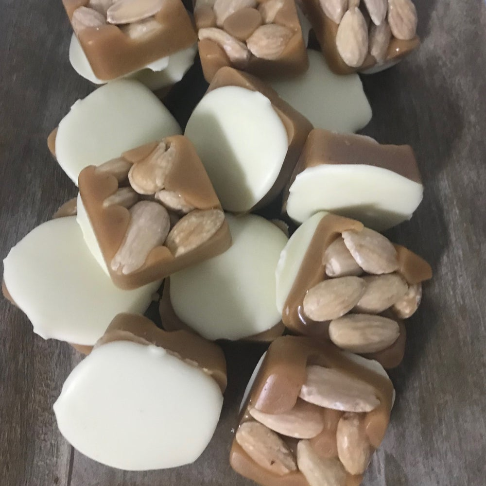 Image of almond & white chocolate caramel