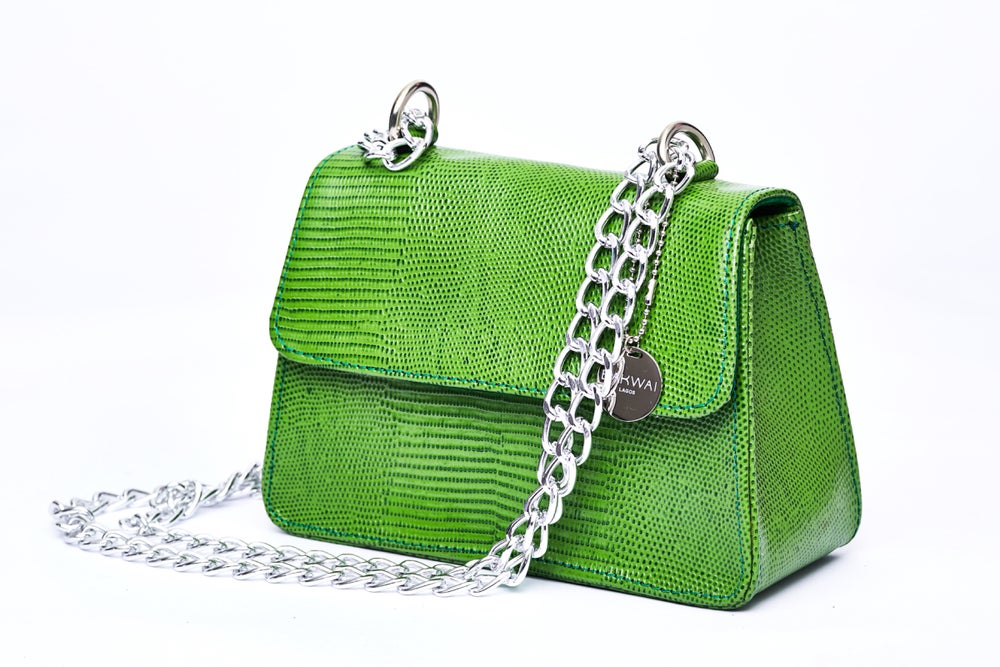 Image of Lime green mini Tee bag