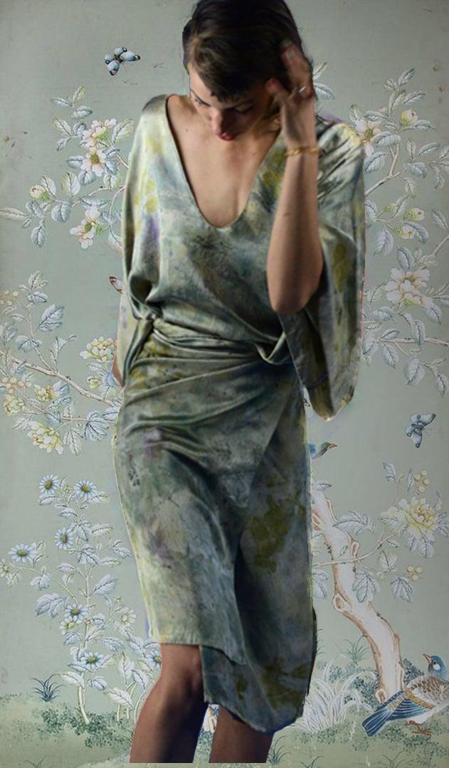 Image of kimono wrap dress