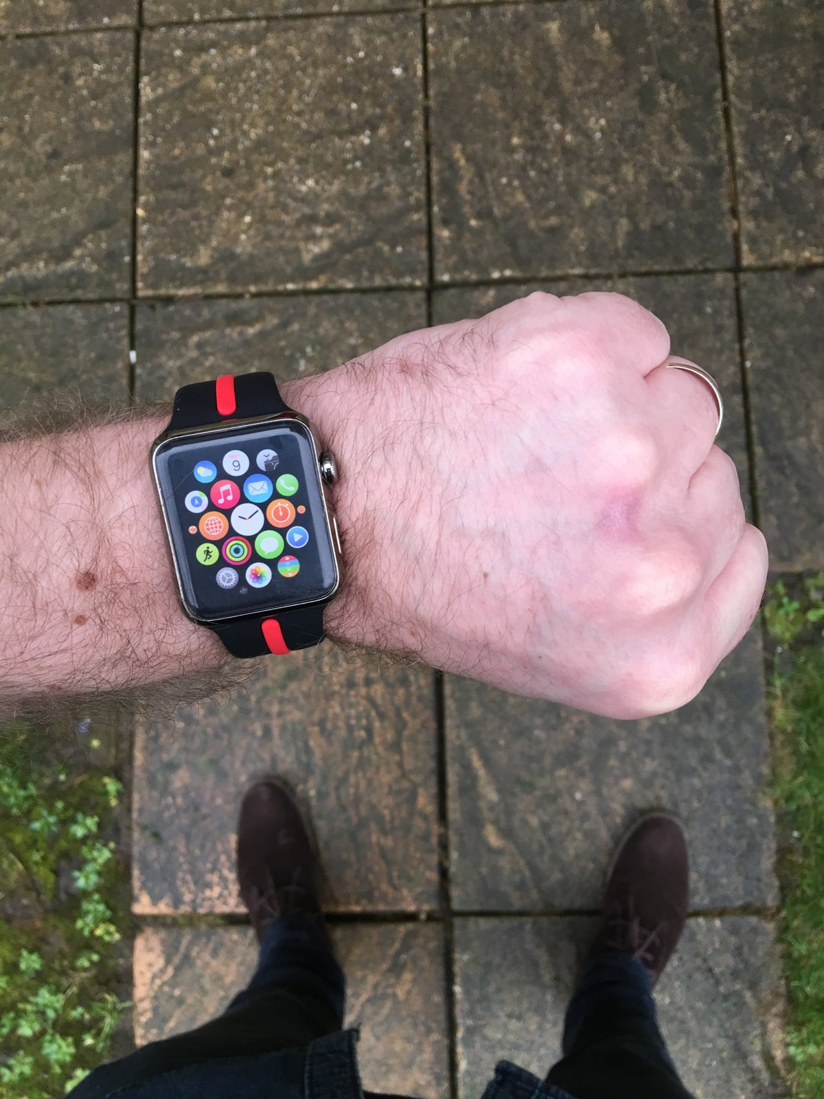 Image of KMP 'Thin Red Line' Apple Watch Sports Strap