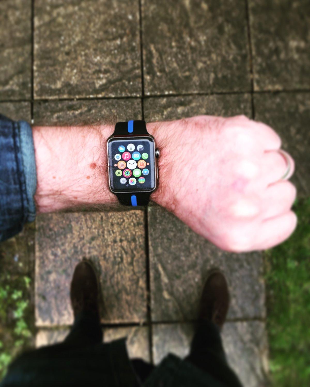 Image of KMP 'Thin Blue Line' Apple Watch Sports Strap