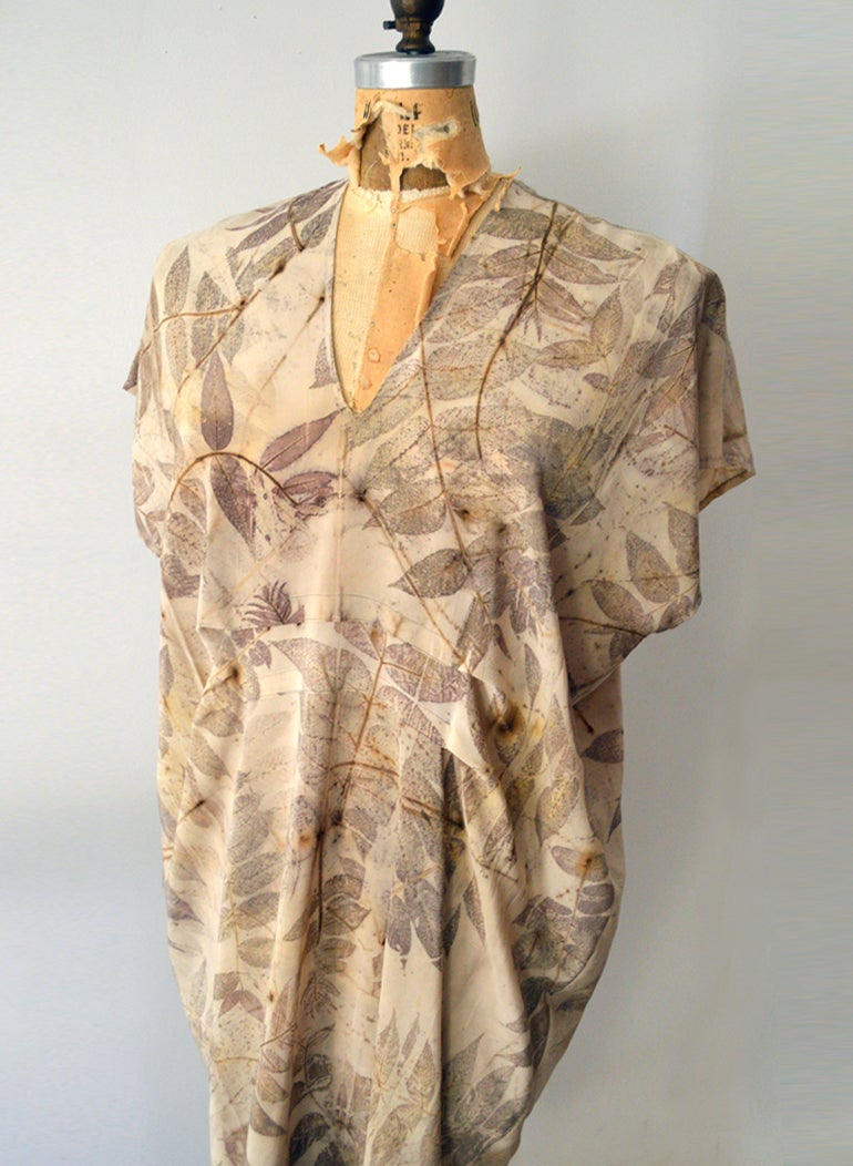 Image of Black Walnut Silk Kaftan