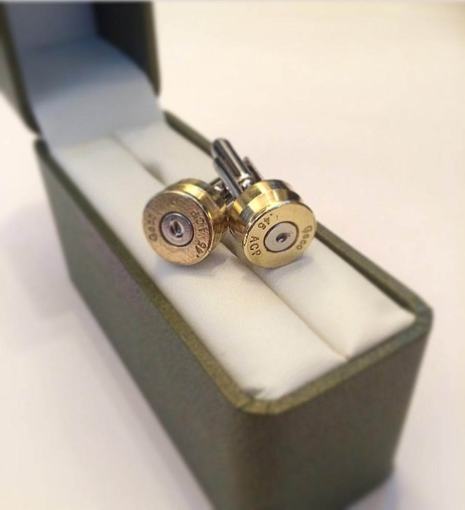 Image of KMP 'BULLETZ' Shell Casing Cuff Links