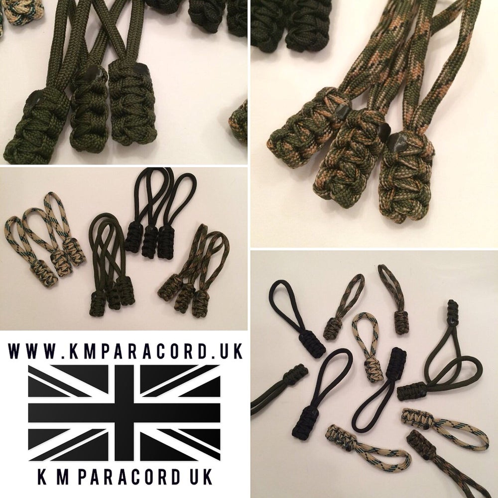 Image of KMP Paracord Zipper Pulls (x5 Pack)