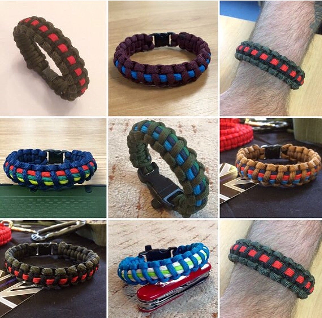 Image of Paracord Regiment Wristbands