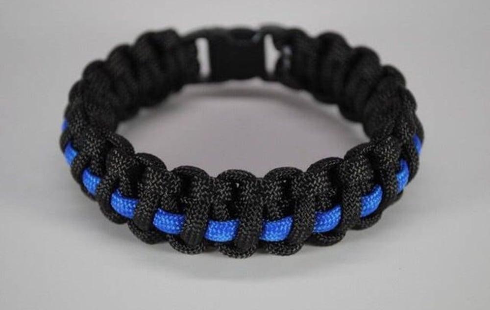 Image of KMP 'Thin Blue Line' Wristband