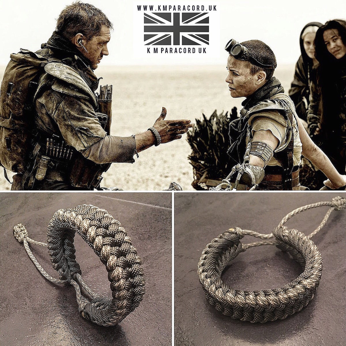 Image of KMP 'MAD MAX' style Sanctified Wristband