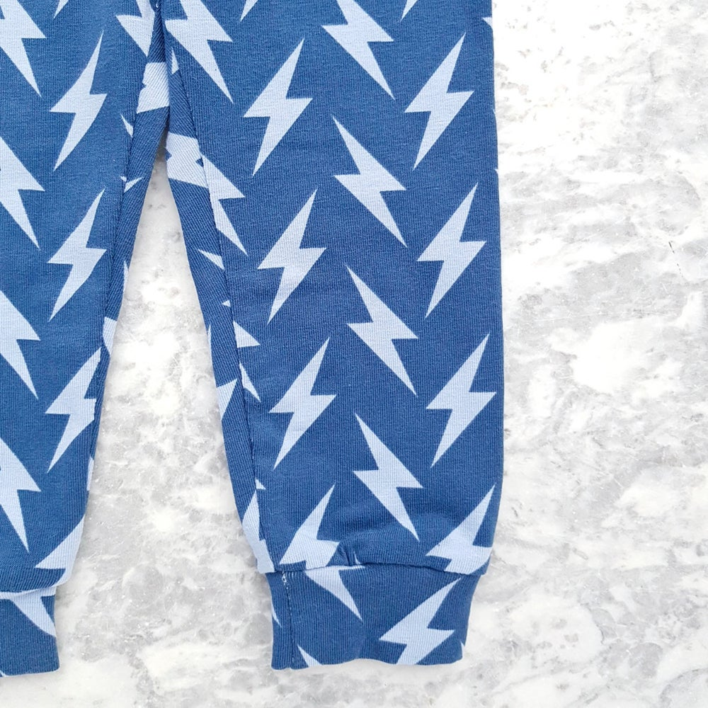 Image of Blue Lightning Bolt Leggings