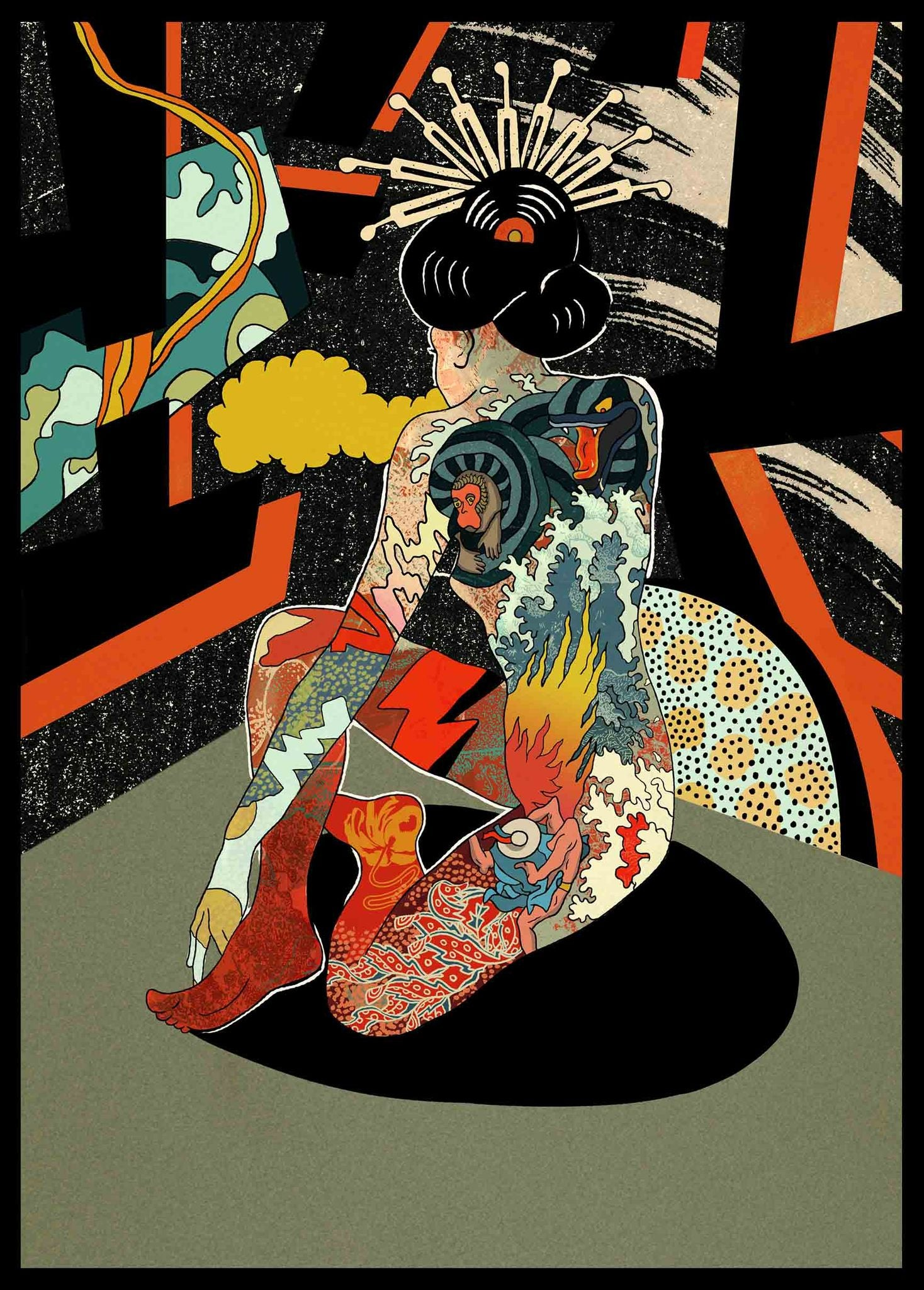 Image of 'Kazuko' // Giclee print