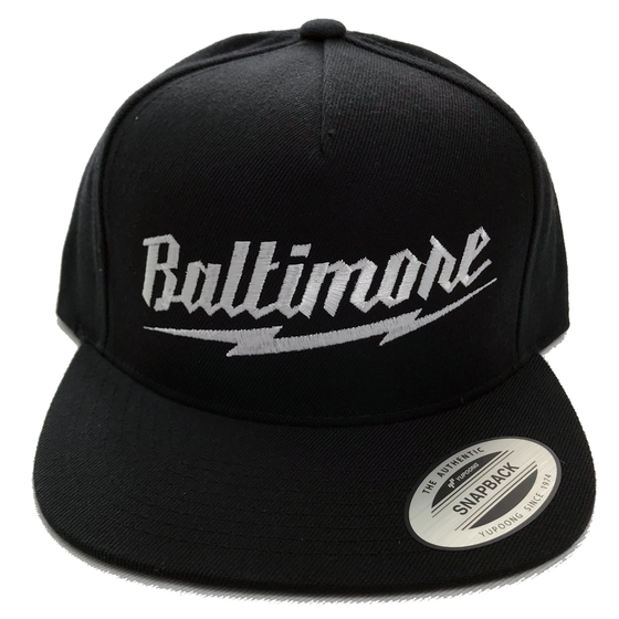 Image of Baltimore Lightning Bolt Snapback
