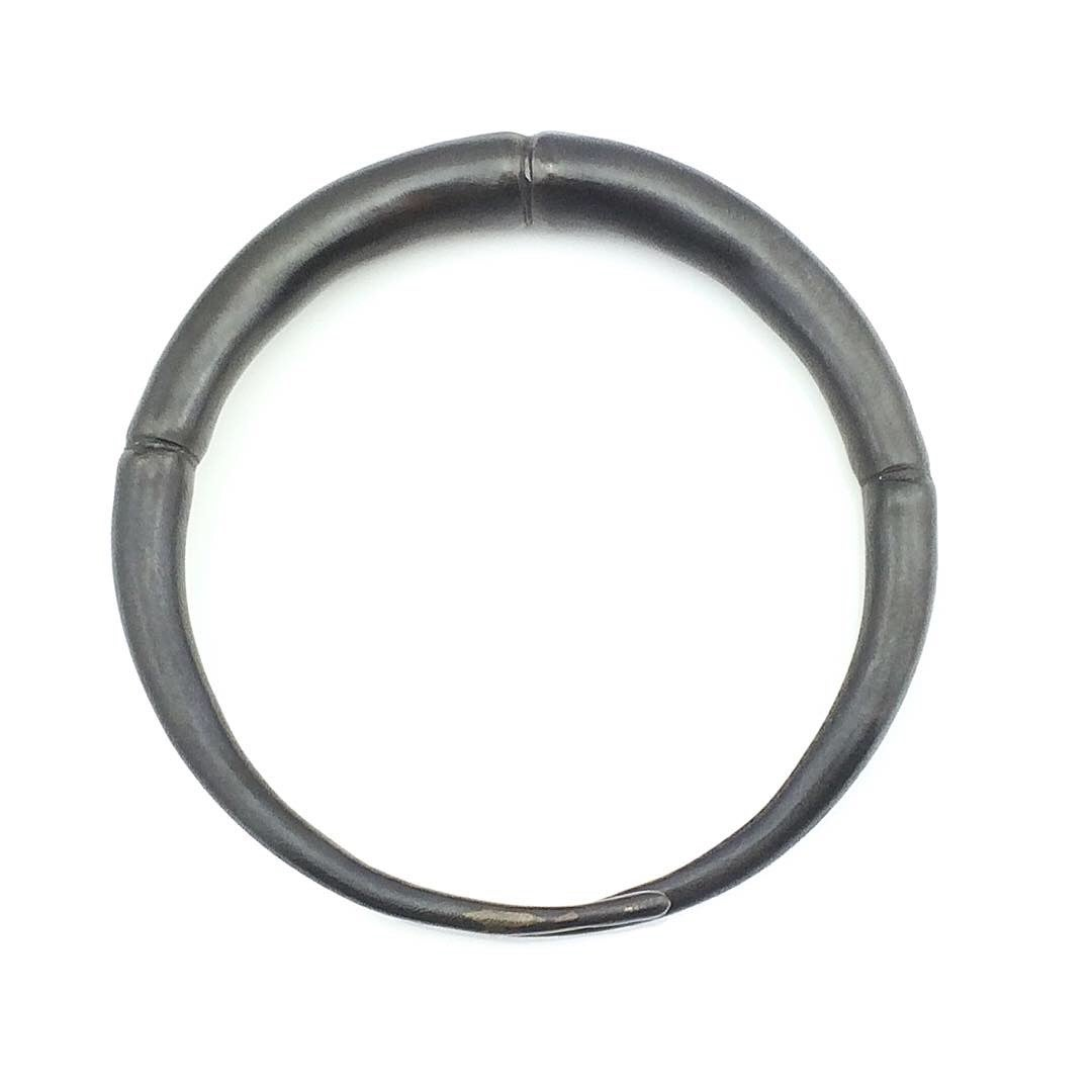 Image of Single Black Double Tapered Bangle Bracelet 01