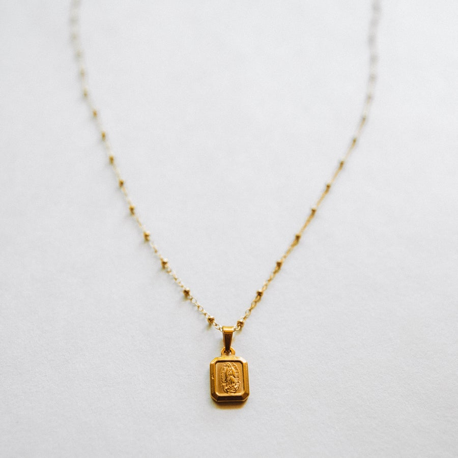 Image of The Square Medallion Necklace