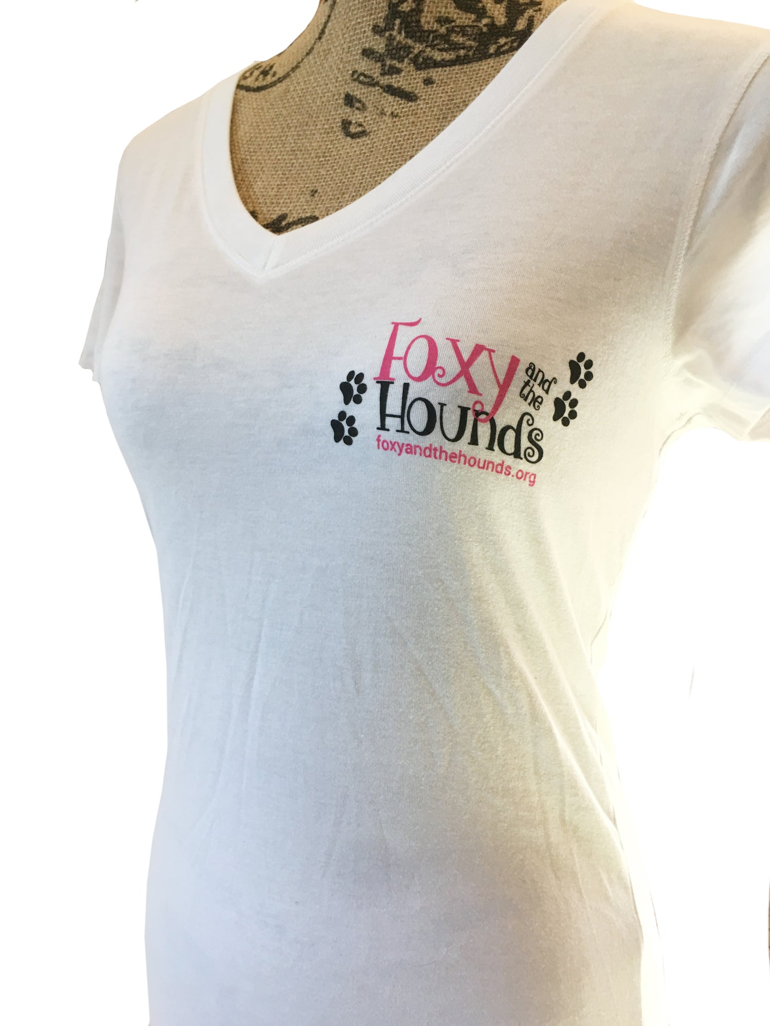 Image of Women's Short Sleeve V-Neck T-Shirt - White