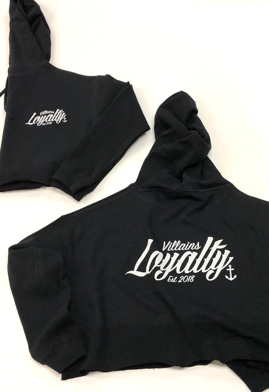 Image of LOYALTY crop hoodie
