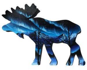 "Image of <font color=""red"">Clearance </font> ""Moose"" Original Painting"