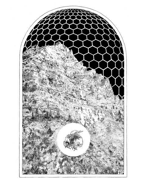 "Image of ""The Hive Which Hangs in the Lion's Skull"" - Print"